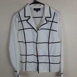 Jones new York signature women's dress shirt.H8